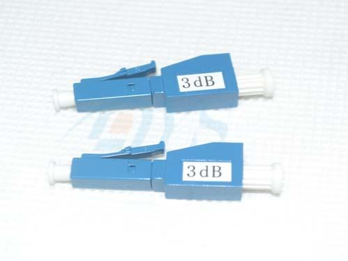 Blue 3db LC / UPC Fiber Optic Attenuator Plug Type For Overpowered Fiber Optic Systems