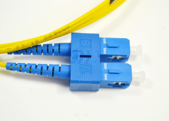 SC / UPC - SC / UPC single mode fiber optical patch cord Yellow Color