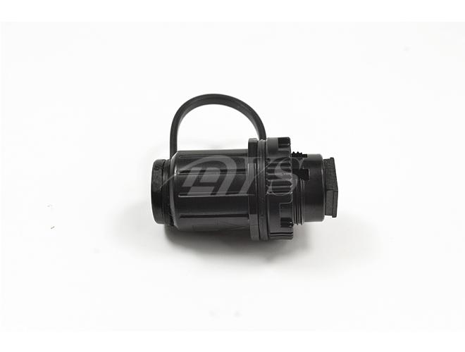 ISO Black Mini SC / APC Fiber Optic Adapter 0.2db Inserion Loss IP65 ISO Certificated