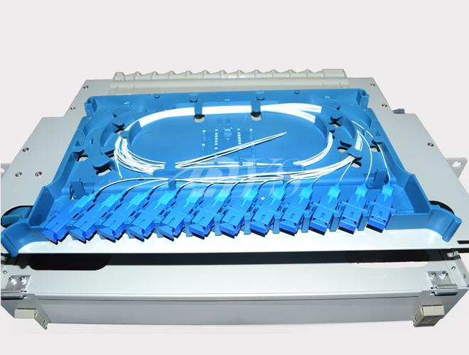 Indoor Odf Fiber Optic Patch Panel Box 24 Ports Electrolysis Plate Frame