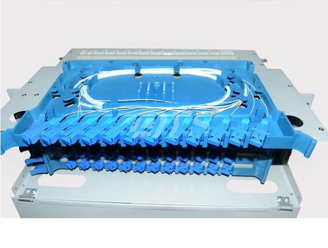 Sc Simplex Type 48 Ports Fiber Optic Odf Distribution Frame Stainless Steel ABS