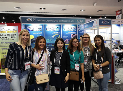 DYS exhibited in OFC 2019 during 5-7th March in San Diego, USA which achieved great success.