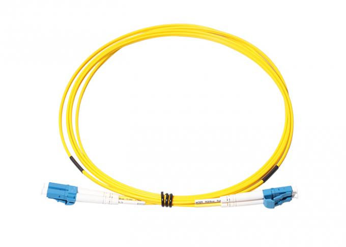 PVC LSZH Jacket LC LC Single Mode Patch Cord 0
