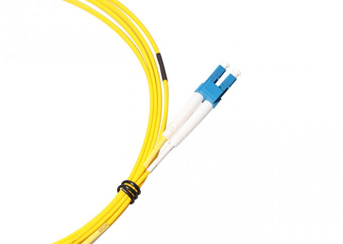 PVC LSZH Jacket LC LC Single Mode Patch Cord 1