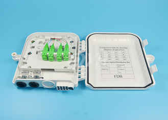 SC/APC 8 Port Fibre Optic Termination Box , Optical Fiber Termination Box FTTH