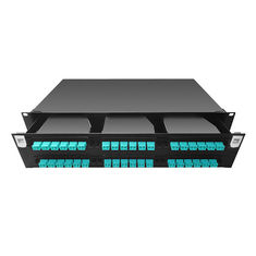 High Density 2U 144 Port MPO / MTP Fiber Optic Patch Panels Rack Mount RoHS Compliant