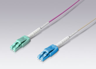 Fiber Optic Patch Cord Duplex LC Uniboot LSZH Jacket With ISO9001 Certifaction