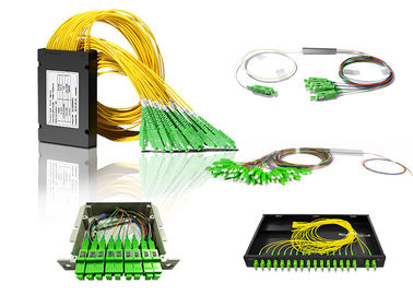 1x2,1x4,1x8,1x16,1x32 1x64 Fiber Optic PLC Splitter with SC connector optical fiber splitter