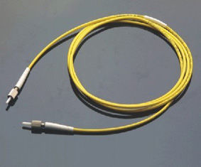 Low Insertion Loss, High Return Loss Yellow DIN Model Connector Optical Fiber Patch Cord