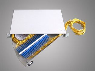 OEM Fiber Optic Terminal Box , 1U 19'' Rotary Type 24 Core Rack Mount