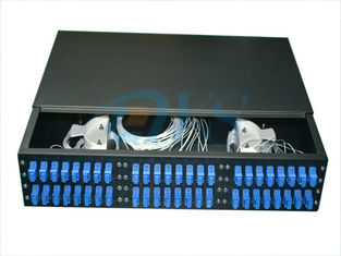 19 Inch Rack Mount Fiber Optic Odf , 2U 48 Core Optic Patch Panel Odf Robust Structure