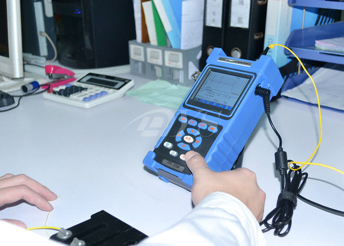 China Shock Proof / Dust Proof USB / RS-232 Fiber Optic Test Equipment Palm OTDR Tester supplier