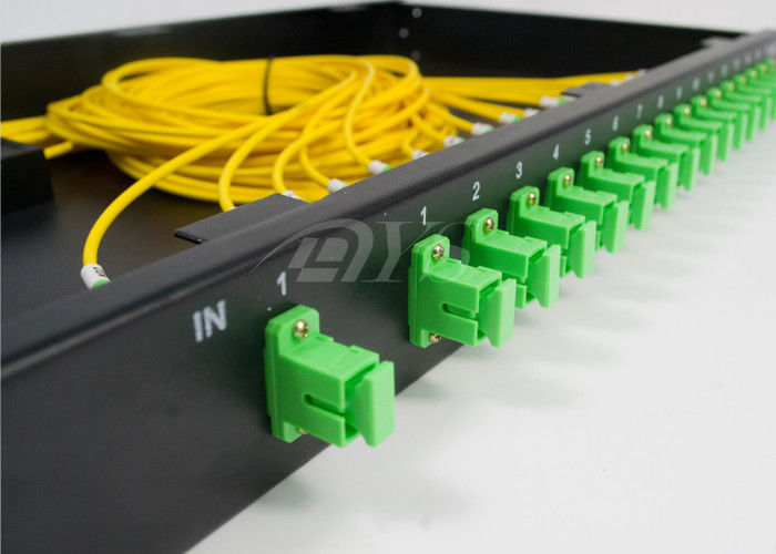 China SC/APC 1*16 PLC Optical Fiber Splitter Rack Mount Box Low Excess Loss supplier