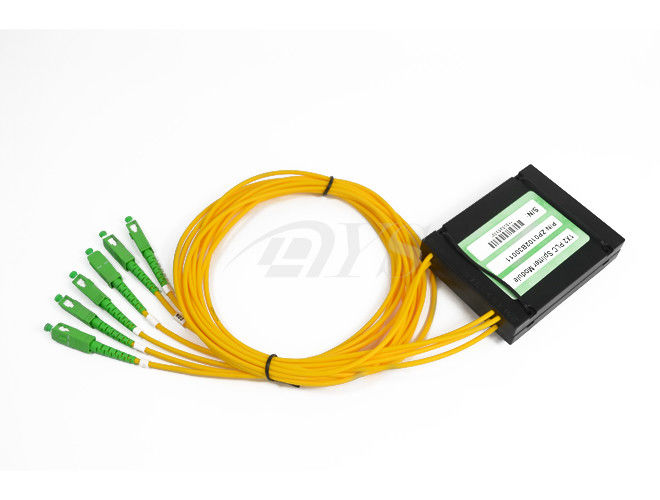 China 2*4 PLC Optical Fiber Splitter,  With SC/APC Connector supplier