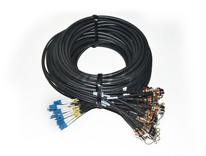 2 Core AARC - LC 24 Core LC Male Outdoor Cable Assembly For Surveillance Systems supplier