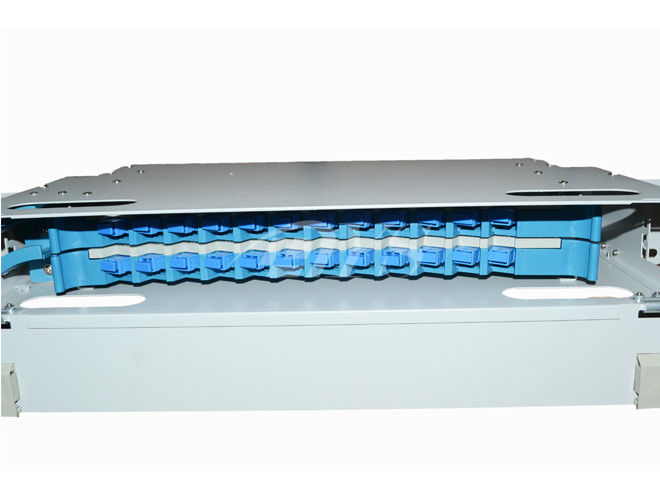 Indoor Odf Fiber Optic Patch Panel Box 24 Ports Electrolysis Plate Frame supplier