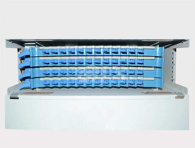 China Sc Simplex Type 48 Ports Fiber Optic Odf Distribution Frame Stainless Steel ABS supplier