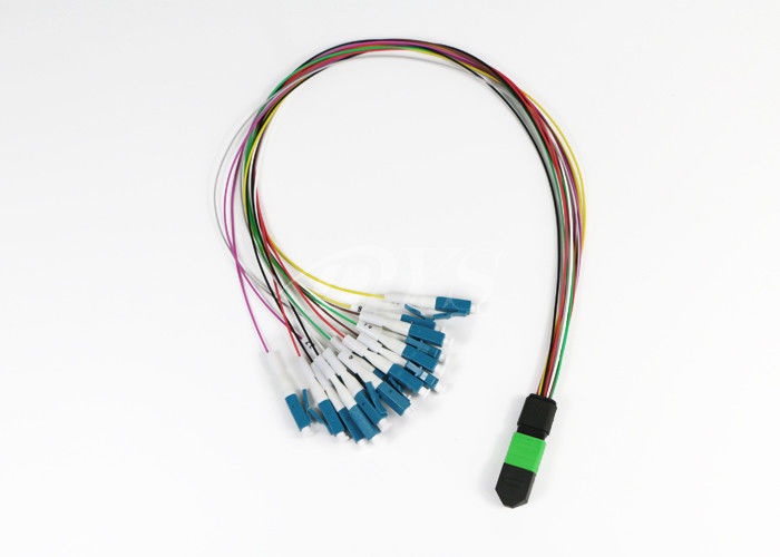 12 Fiber MTP/MPO (f) Elite- LC Single Mode Fan-Out Cable Assembly supplier