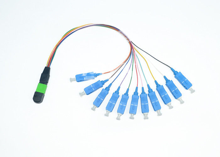 China Elite - SC MPO/MTP Single Mode Fan Out Cable Assembly PC Polish supplier