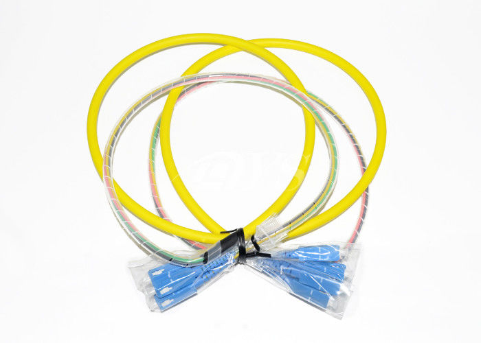 China SC/UPC-SC/UPC Optical Fiber Patch Cord Connector 4 Fiber With Pre - Terminated supplier