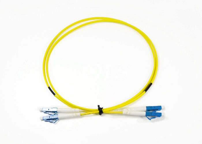 China 1M Single Mode Duplex Jumper Optical Fiber Patch Cord With ROHS Certifaction supplier
