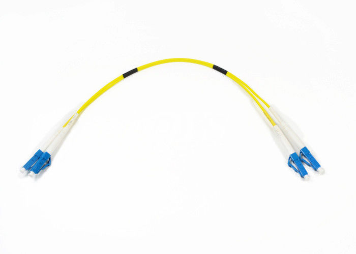 Customize Length Single Mode Fiber Jumpers , Lc Lc Fiber Patch Cord Low Insertion Loss supplier