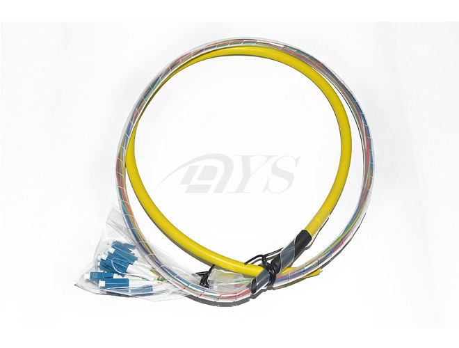 China 12 fibres breakout cables LC pigtails Optical Fiber Patch Cord supplier