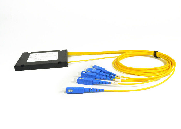China 1*4 PLC Fiber Optic Audio Splitter SC / UPC Connector For FTTx Deployments supplier