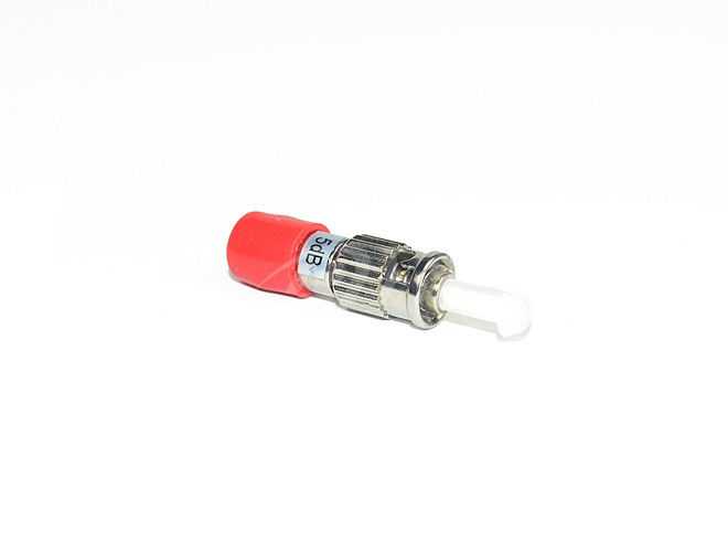 China High Return Loss ST Fiber Optic Attenuator Plug Type / Female-Male supplier