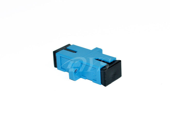China SC blue Singlemode Simplex Fiber Optic Adapter For Fiber To the Home supplier