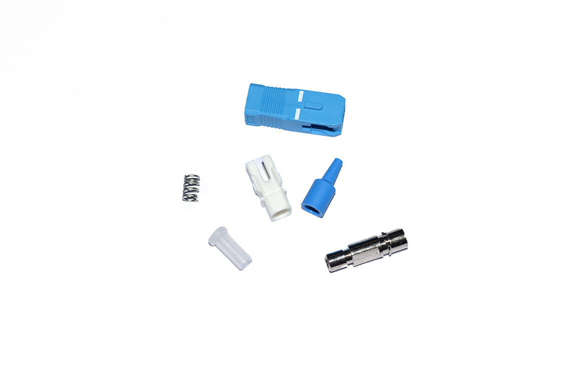 China Housing SC / UPC  Optical Fiber Connectors , single mode fiber connectors supplier