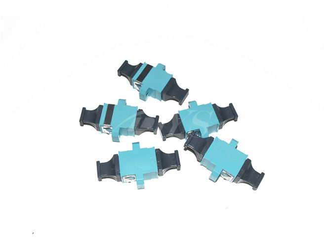 China MTP Adapter  KeyUp-KeyDown Fiber Optic Adapter Aqua  with flange High Size Precision supplier
