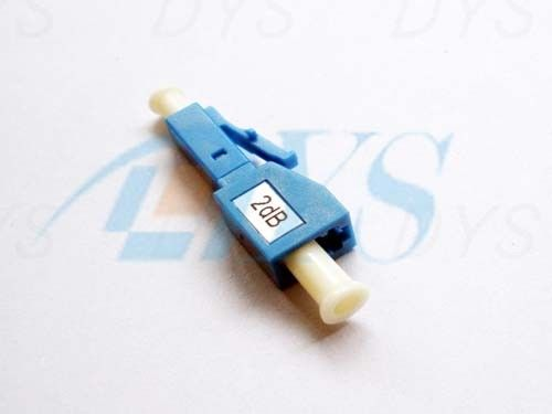 China LC 2 dB Blue Fiber Optic Attenuator Environmental Stable With 1240nm - 1620nm Wavelength supplier