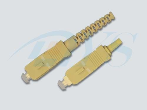 China SC Simplex Multi Mode Optical Fiber Connectors With Low insertion Loss supplier