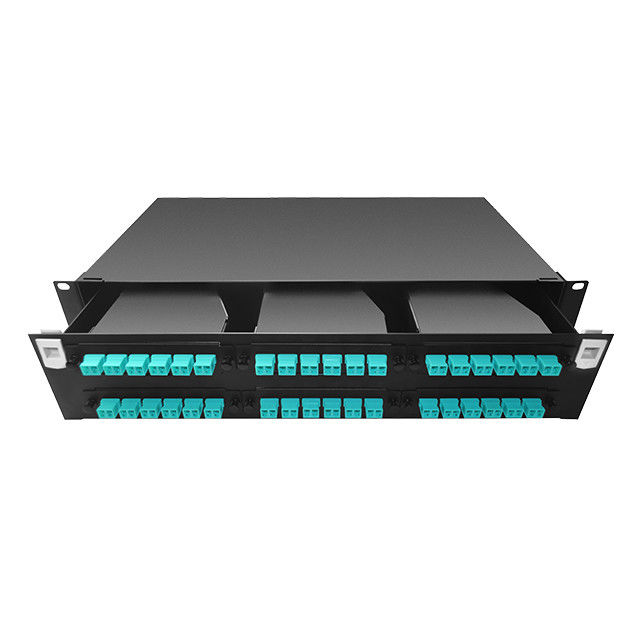 China High Density 2U 144 Port MPO / MTP Fiber Optic Patch Panels Rack Mount RoHS Compliant supplier