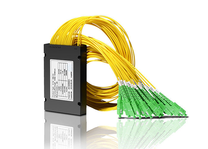 China FTTH Fiber Optic Splitter 2x32 -SC/APC Coupler PLC Fiber Optic Splitter supplier
