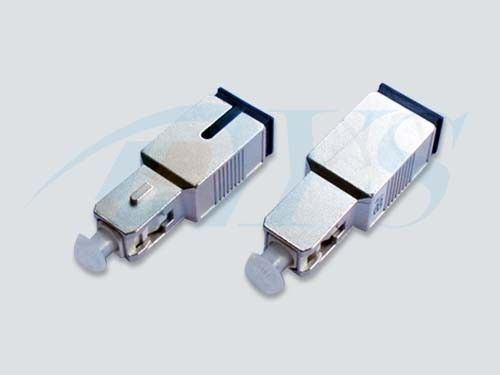 China SC Male to Female Fiber Optic Attenuator Blue / Green With Metal Housing supplier