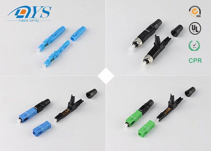 China Field Assembly Optical Fiber Connectors Free sample Field Assembly FTTH SC Fiber Optic Quick Connector supplier
