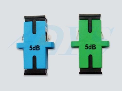 China SC Green / BLUE Simplex Fiber Optic Attenuator For Overpowered Fiber Optic Systems supplier
