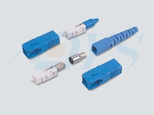 China Blue SC / UPC Optical Fiber Connectors PC / UPC / APC Polishing With 9 / 125um Fiber supplier