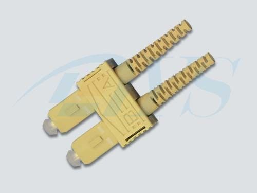 China Beige SC UPC Optical Fiber Connectors 9 / 125um Fiber For Local Area Networks supplier