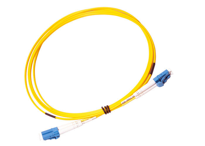 PVC LSZH Jacket LC LC Single Mode Patch Cord supplier