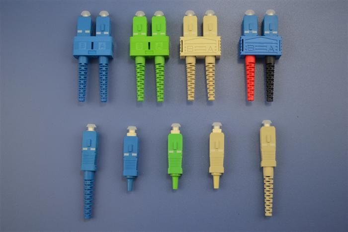 China Data Processing Netwoks Single Mode SC 9 / 125um Optical Fiber Connectors For CATV supplier