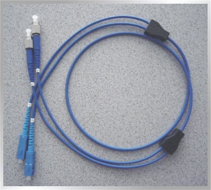 China Flexible Armoured Blue 6mm (12core) Diameter Singlemode Optical Fiber Patch Cord Gray supplier