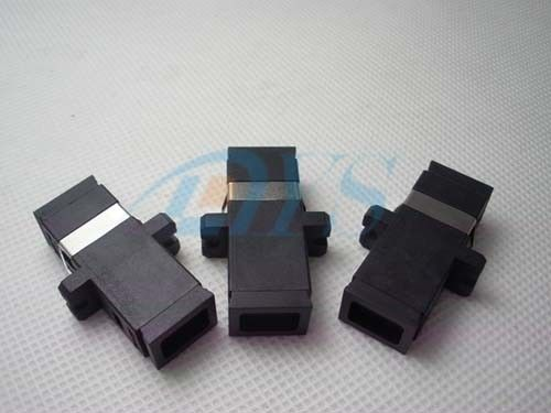 China SC Black Color  Simplex Fiber Optic Adapter To Testing / Measurement Instruments supplier