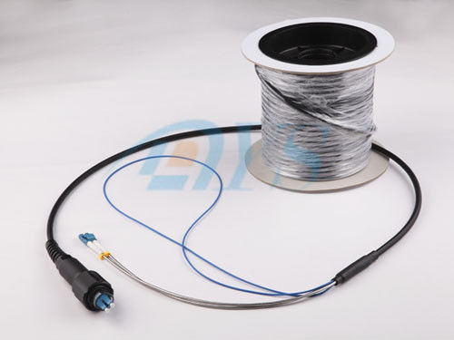 China Pulling eye pre - terminated Outdoor Optical Fiber Patch Cord Low Insertion Loss supplier