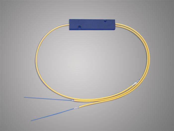 China High Reliability 1 * 2 FBT Optical Fiber Splitter 1310 / 1550nm For Local Access Ntwork supplier