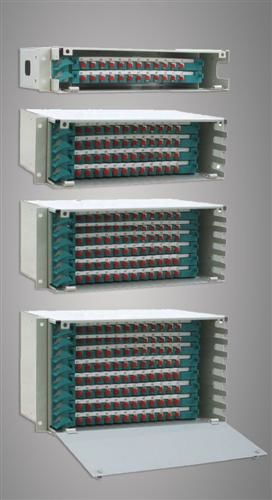China Stainless Steel ABS Fiber Optic Odf 96 Ports FC / SC / ST / LC for Wide Area Networks supplier