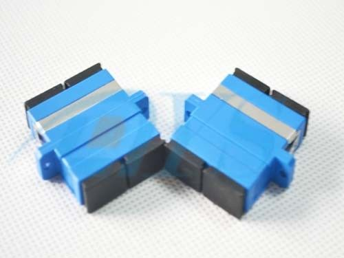 China SC / UPC Duplex Moudle Fiber Optic Adapter with Flange for Fiber To the Home supplier