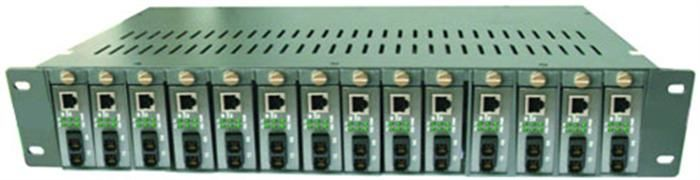 14 Slots Single / Dual Optical Fiber Media Converter 50 ~ 60HZ supplier